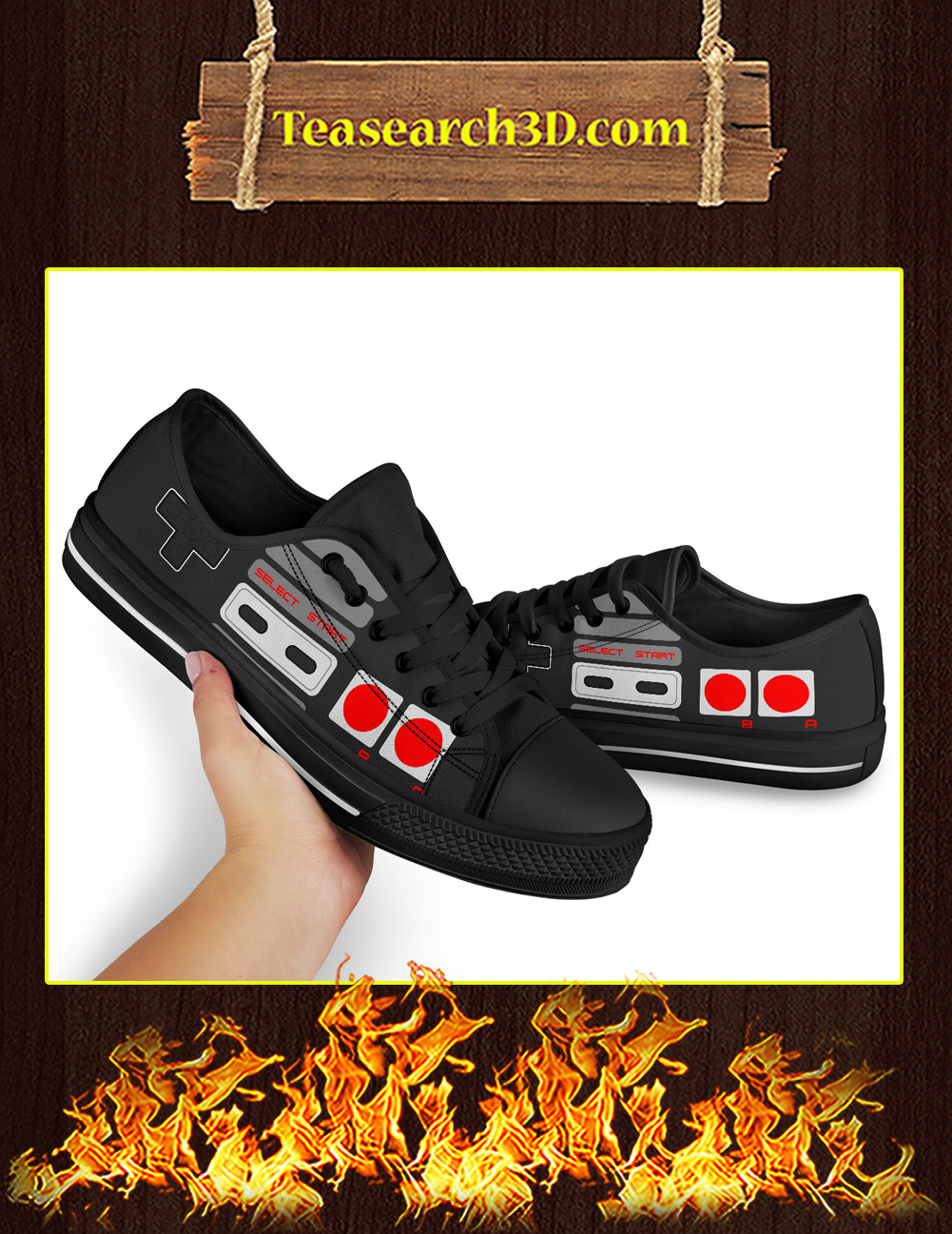 Love Game Controller Low Top Pic 1