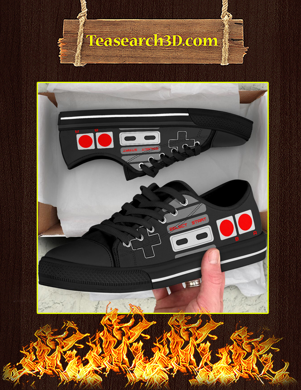Love Game Controller Low Top Pic 3