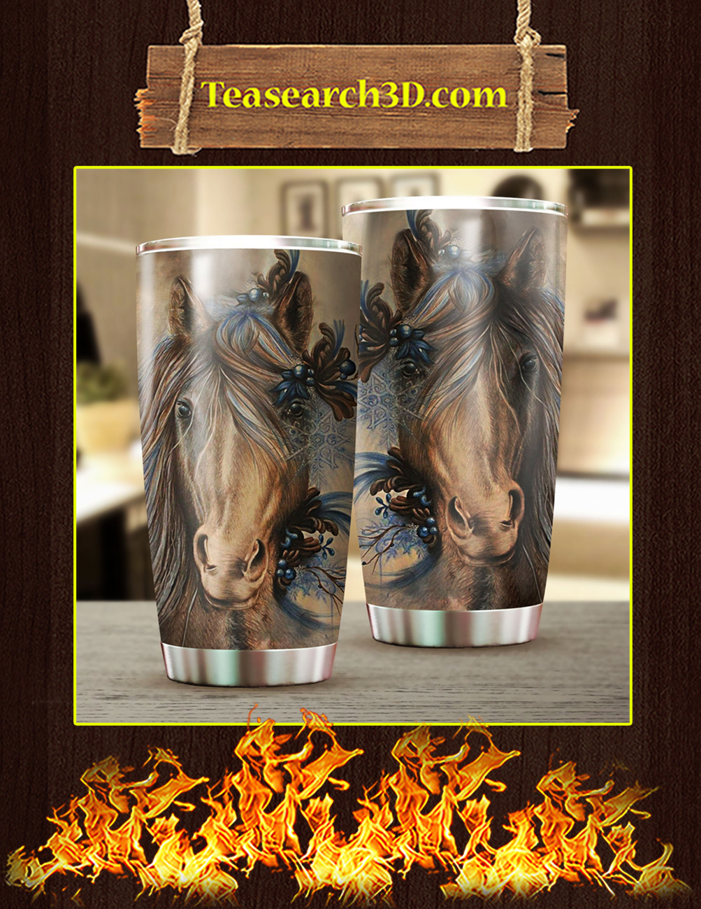 Love Horse Stainless Steel Tumbler Pic 1