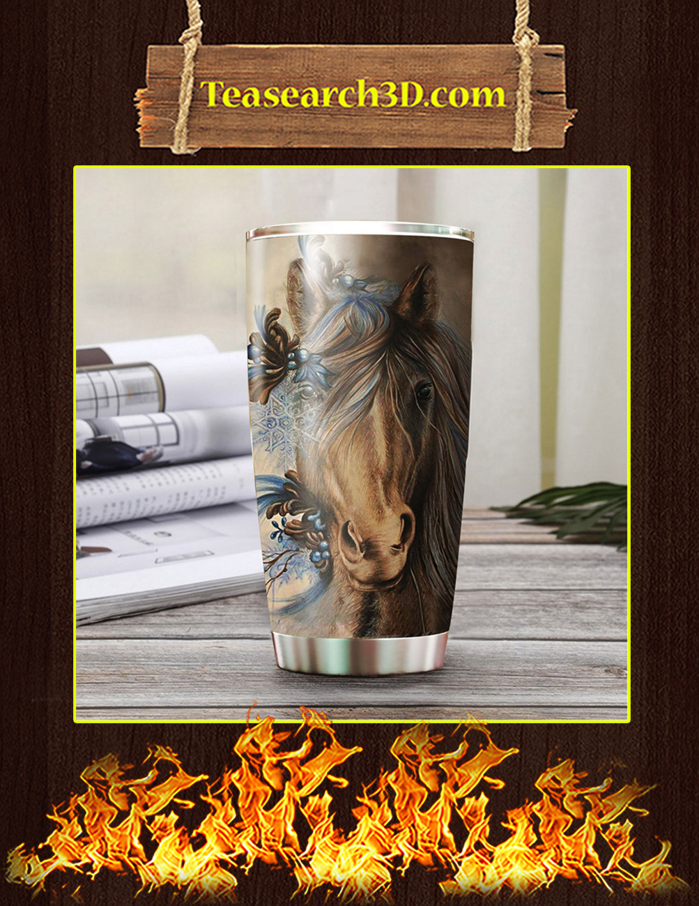 Love Horse Stainless Steel Tumbler Pic 2