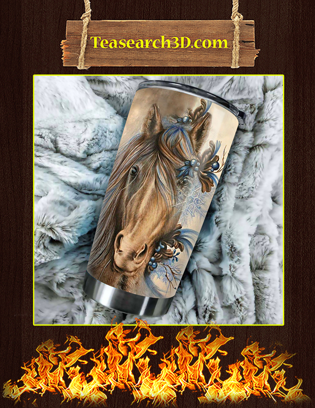 Love Horse Stainless Steel Tumbler Pic 3