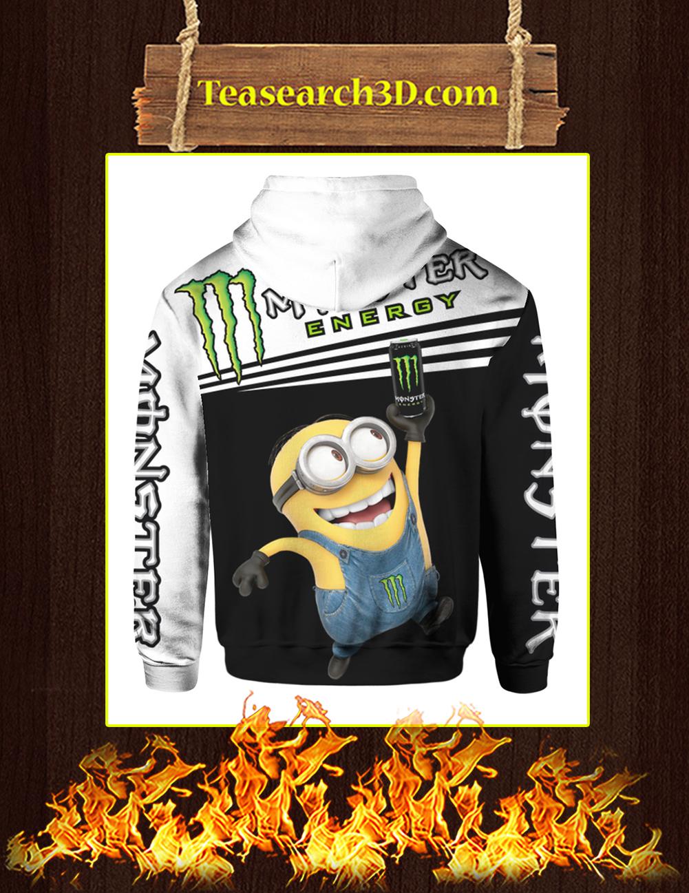 Minion Monster Energy 3d hoodie back