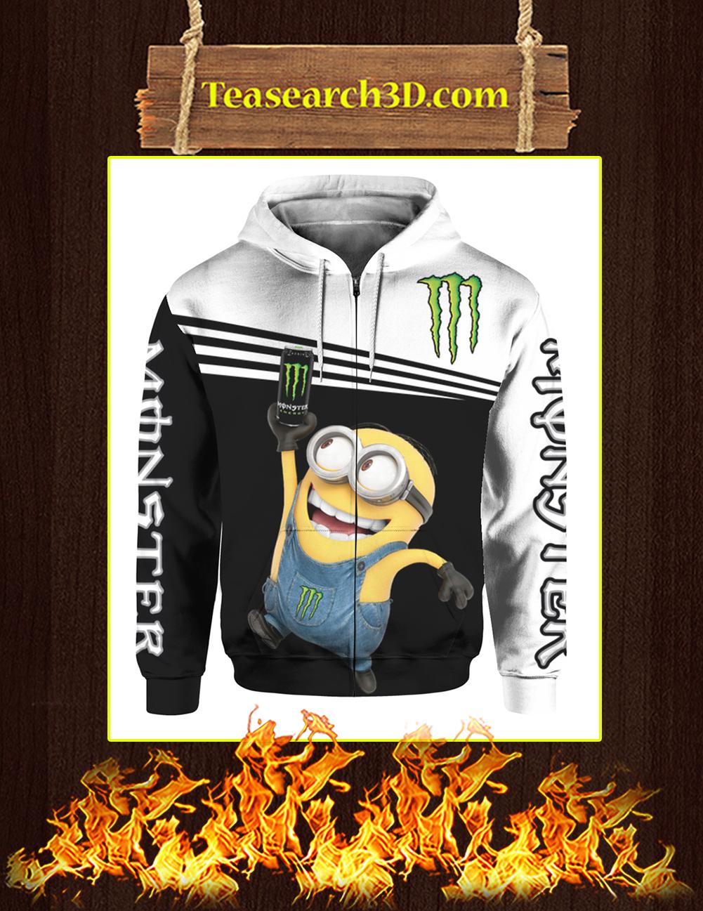 Minion Monster Energy 3d zip hoodie