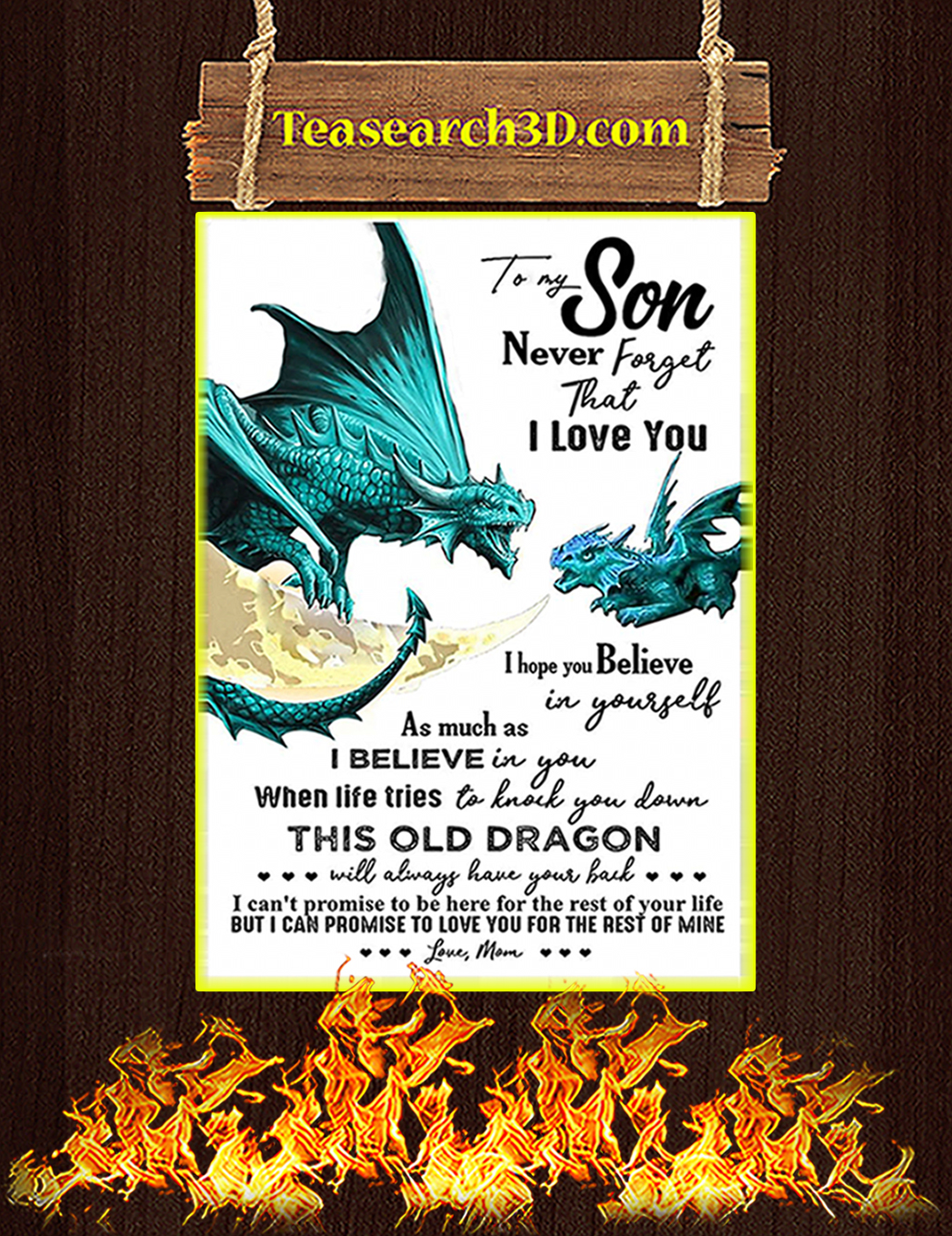 Mom To My Son Dragon Poster A1