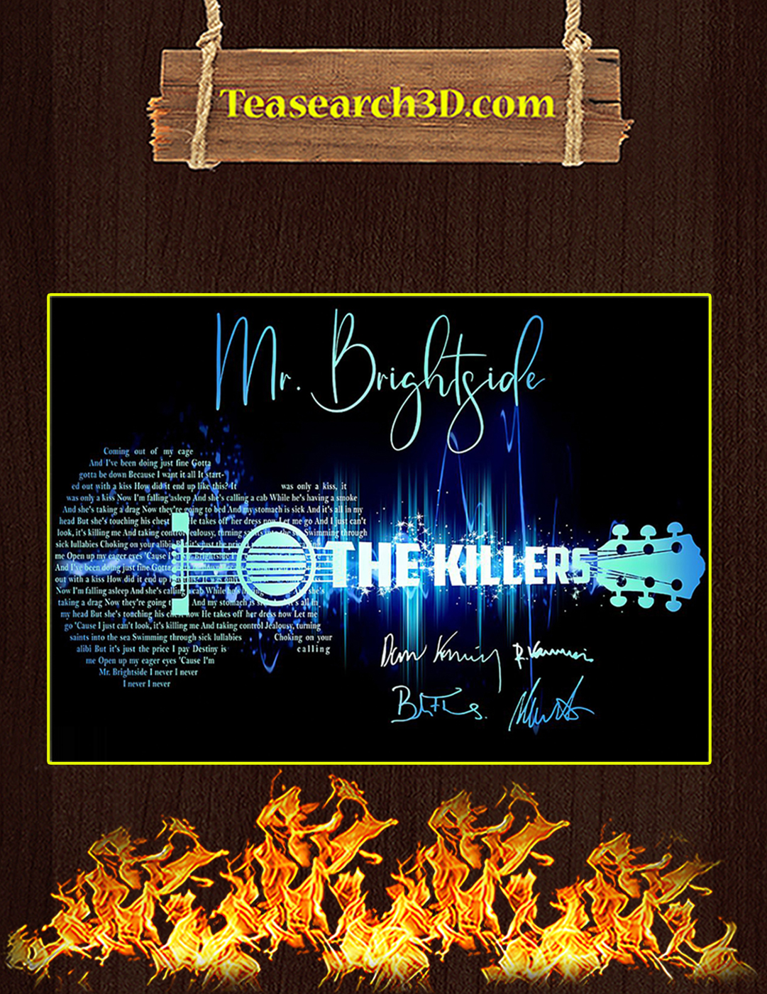 Mr Brightside The Killers Signature Guitar Poster A2