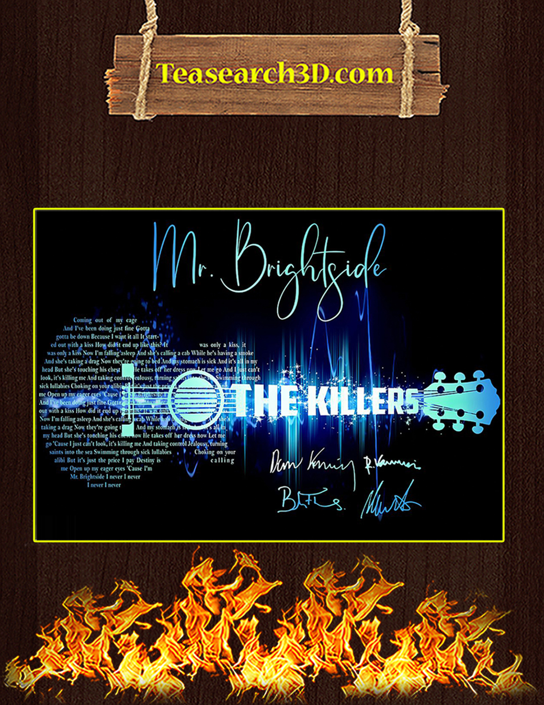 Mr Brightside The Killers Signature Guitar Poster A3