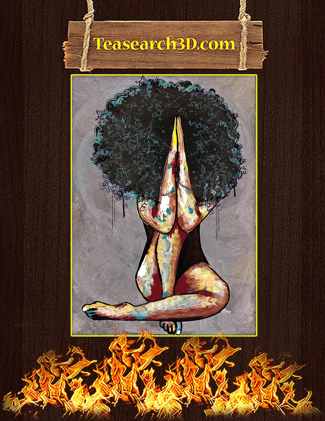 Natural Black Girl Pray 25-3 Poster A2