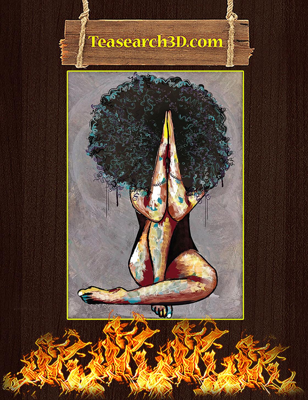 Natural Black Girl Pray 25-3 Poster A3