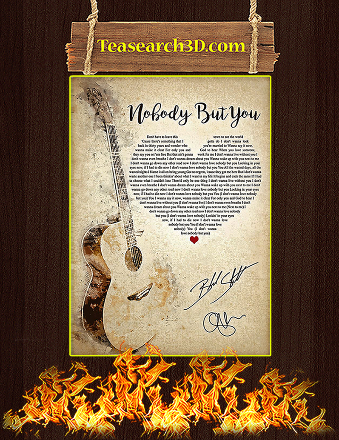 Nobody But You Signature Poster A3