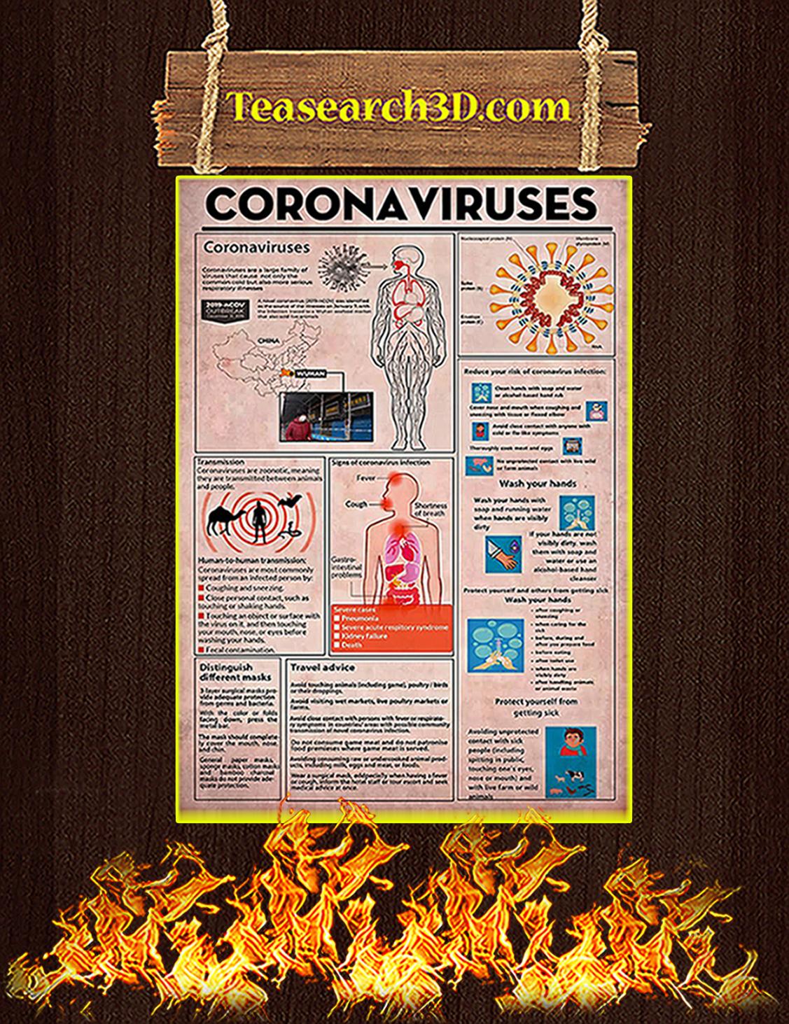 Nurse Coronaviruses Poster A3