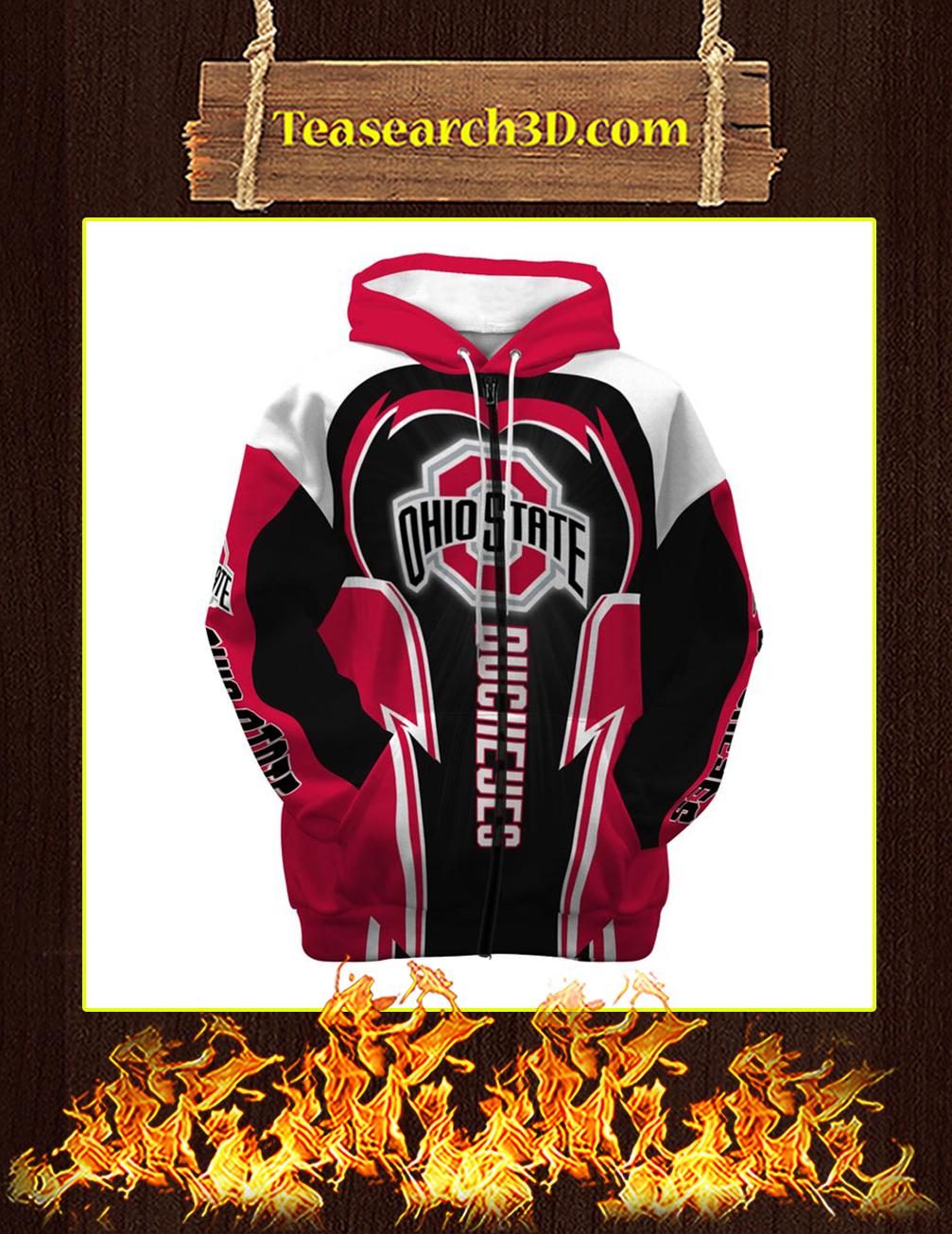 Ohio State Buckeyes 3d zip hoodie