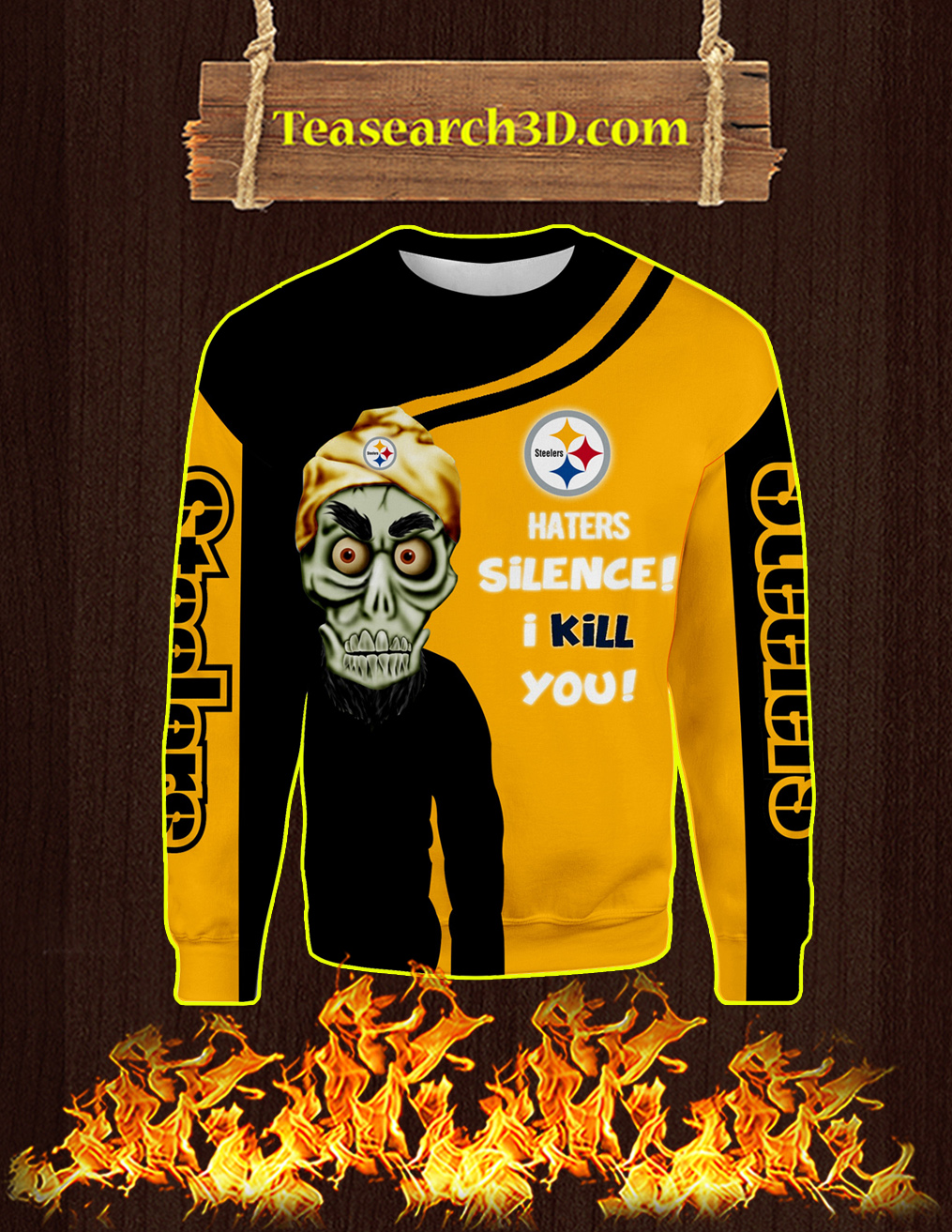 Pittsburgh Steelers Achmed All Over Print 3D Sweatshirt