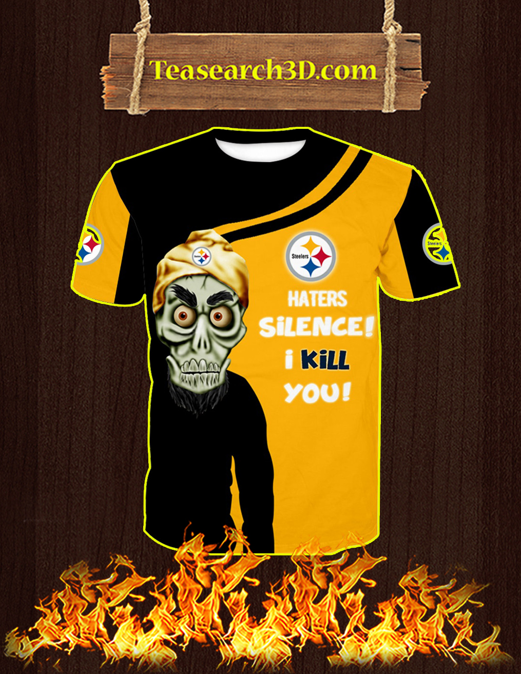 Pittsburgh Steelers Achmed All Over Print 3D T-shirt