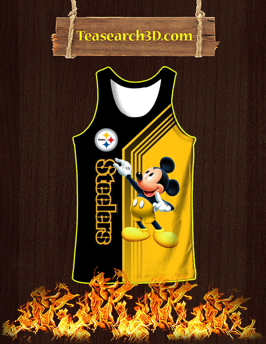 Pittsburgh Steelers Mickey Mouse All Over Print 3D Tank top
