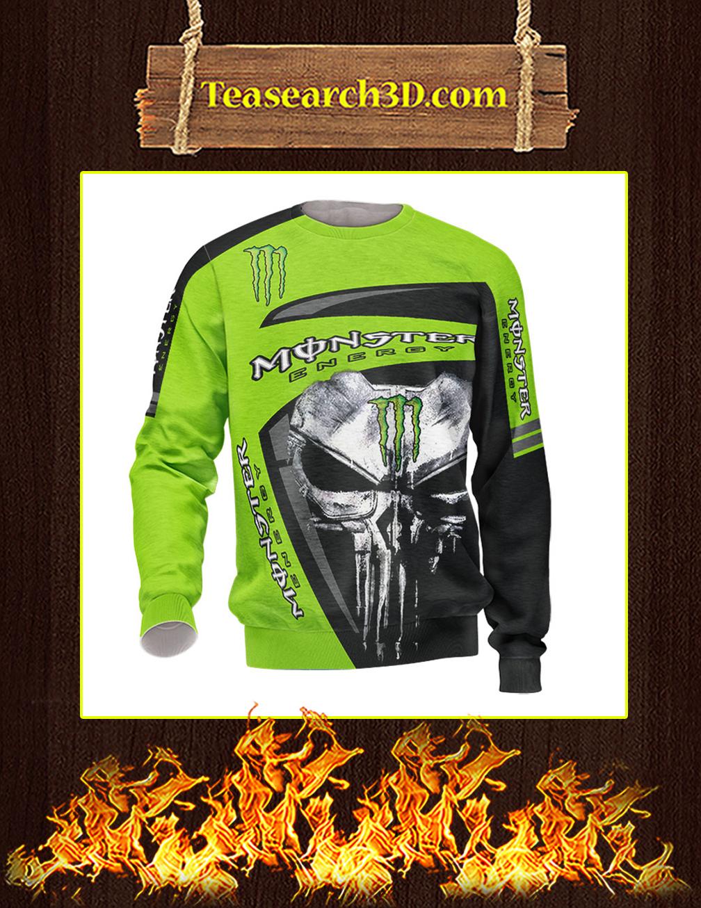 Punisher Skull Monster Energy 3d long-sleeved