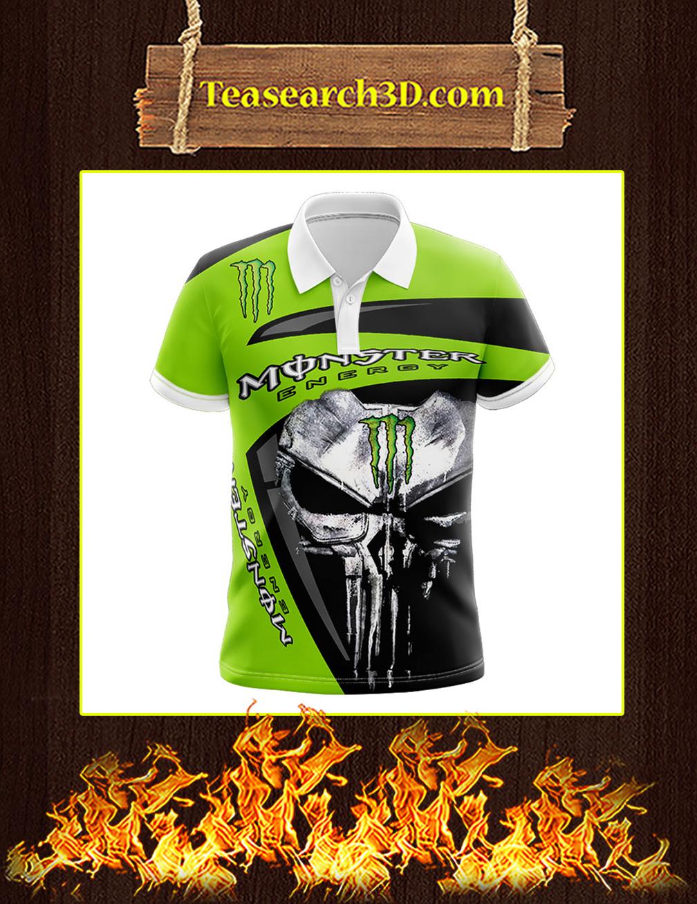 Punisher Skull Monster Energy 3d polo