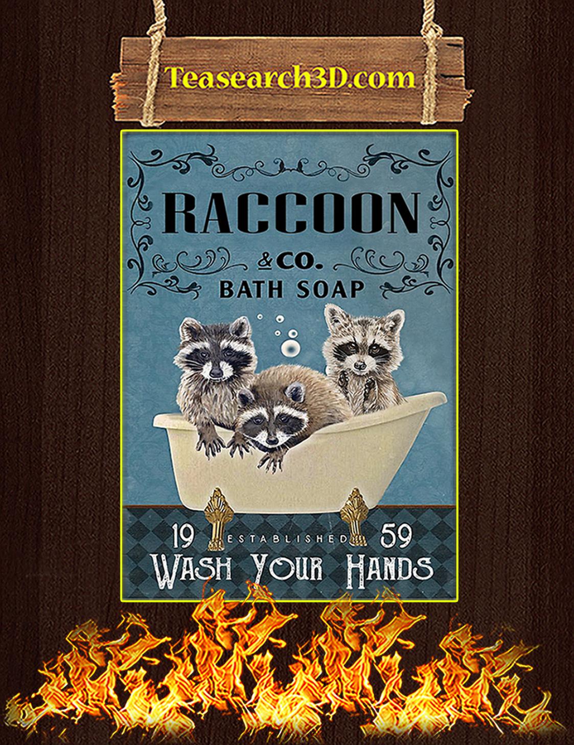 Raccoon Company Bath Soap Poster A3