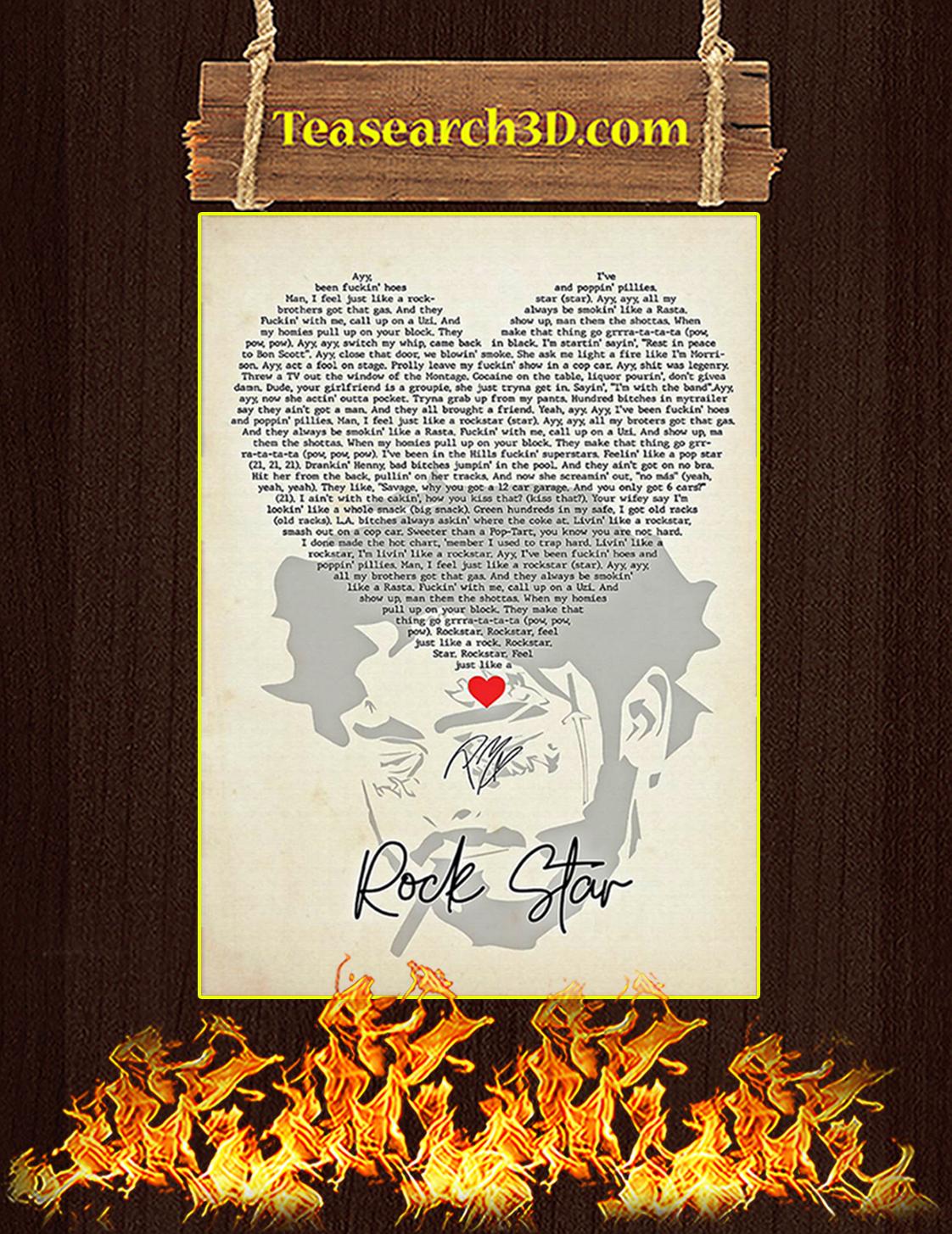 Rock star signature poster A3
