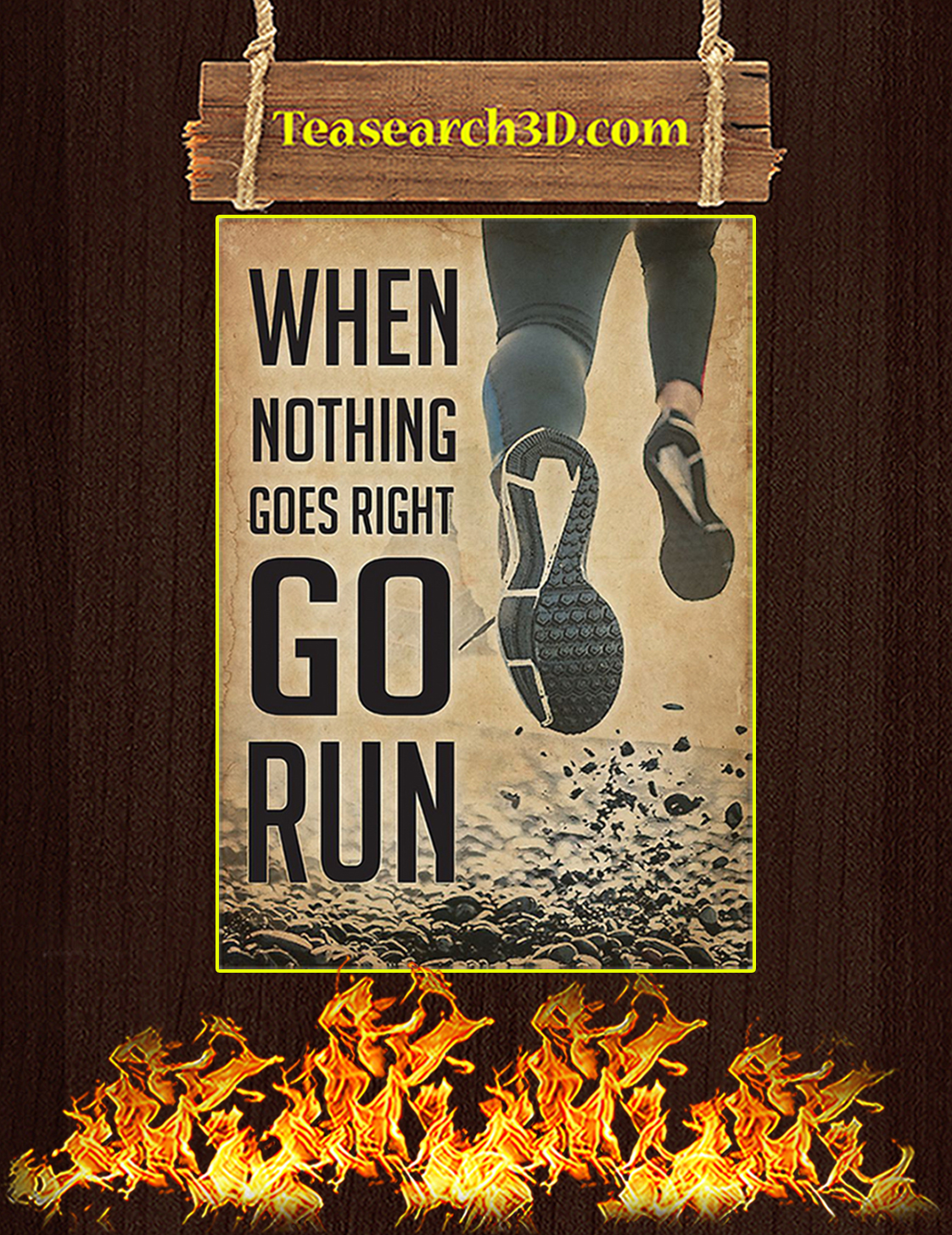 Running when nothing goes right go run poster A3