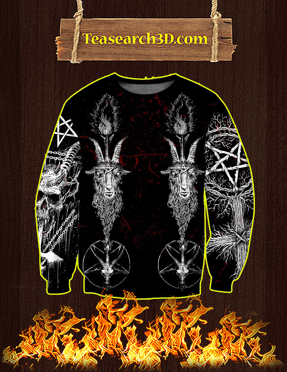 Satanic 3D All Over Printed Sweatshirt
