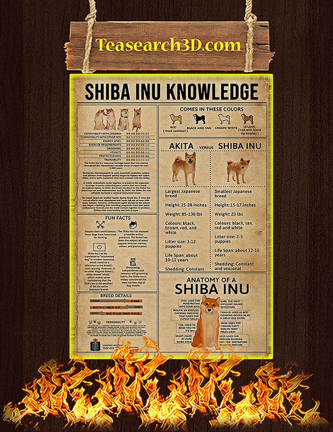 Shiba Inu Knowledge Poster A2