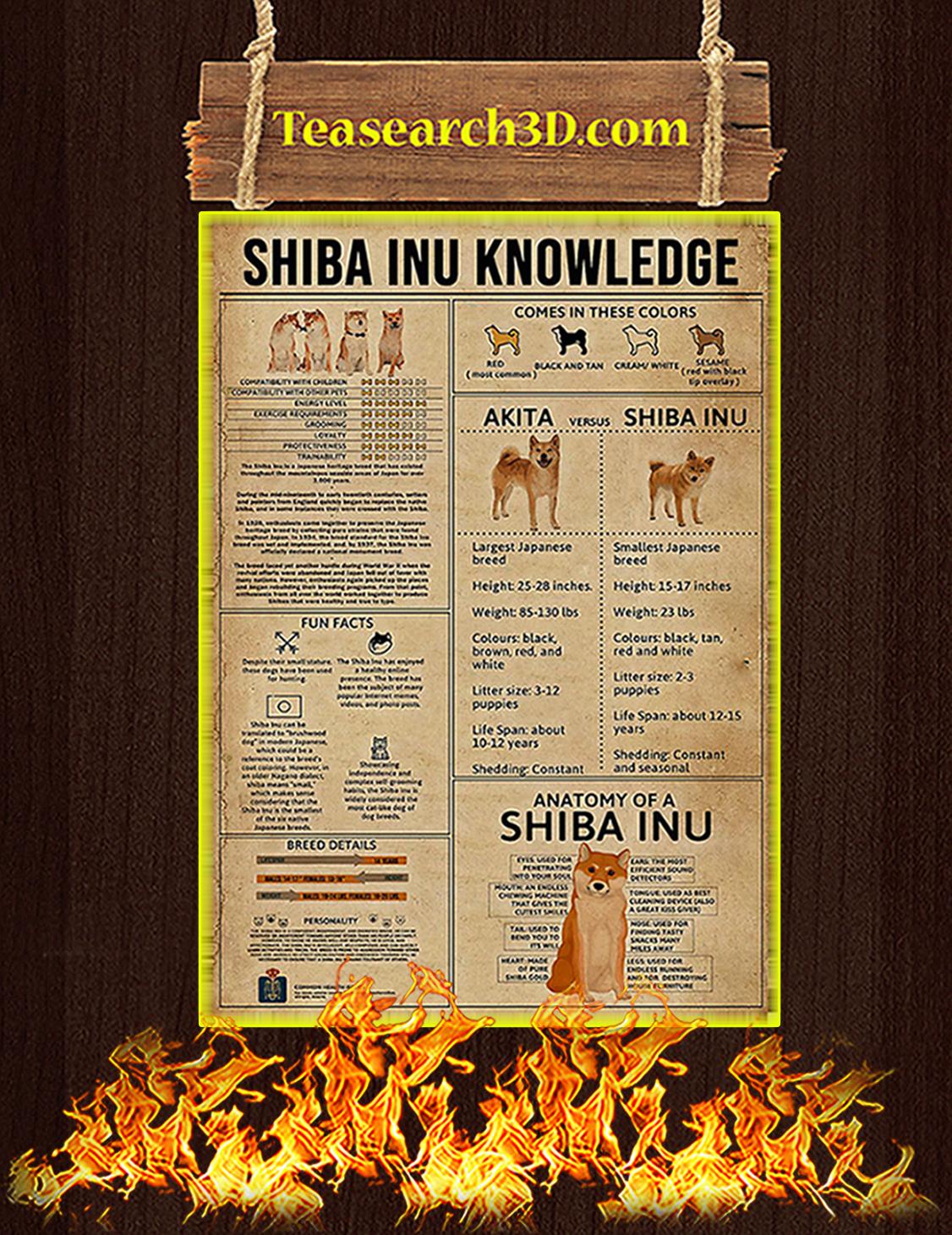 Shiba Inu Knowledge Poster A3