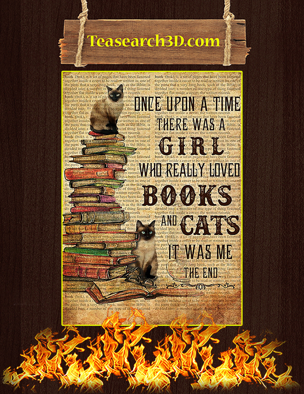 Siamese Once upon a time there was a girl who really loved books and cats A1