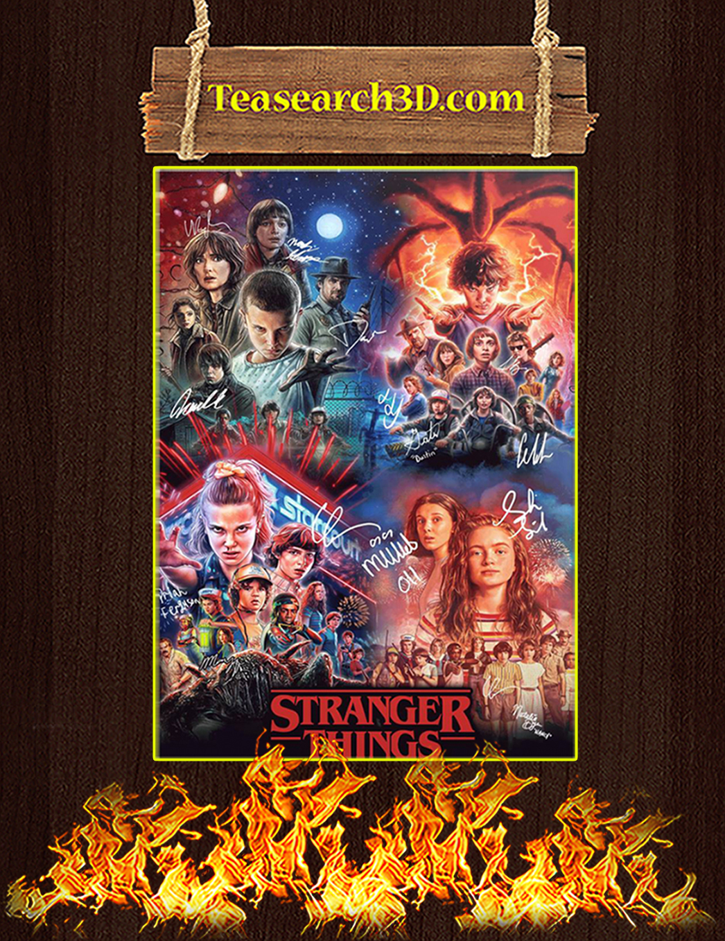 Stranger Things Signature Poster A1