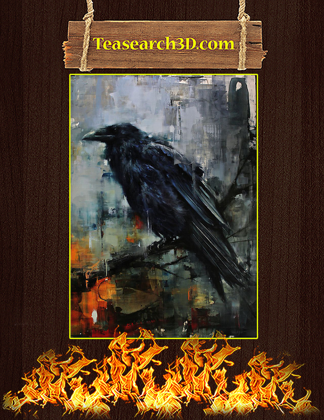 The Raven Watercolor Poster A2