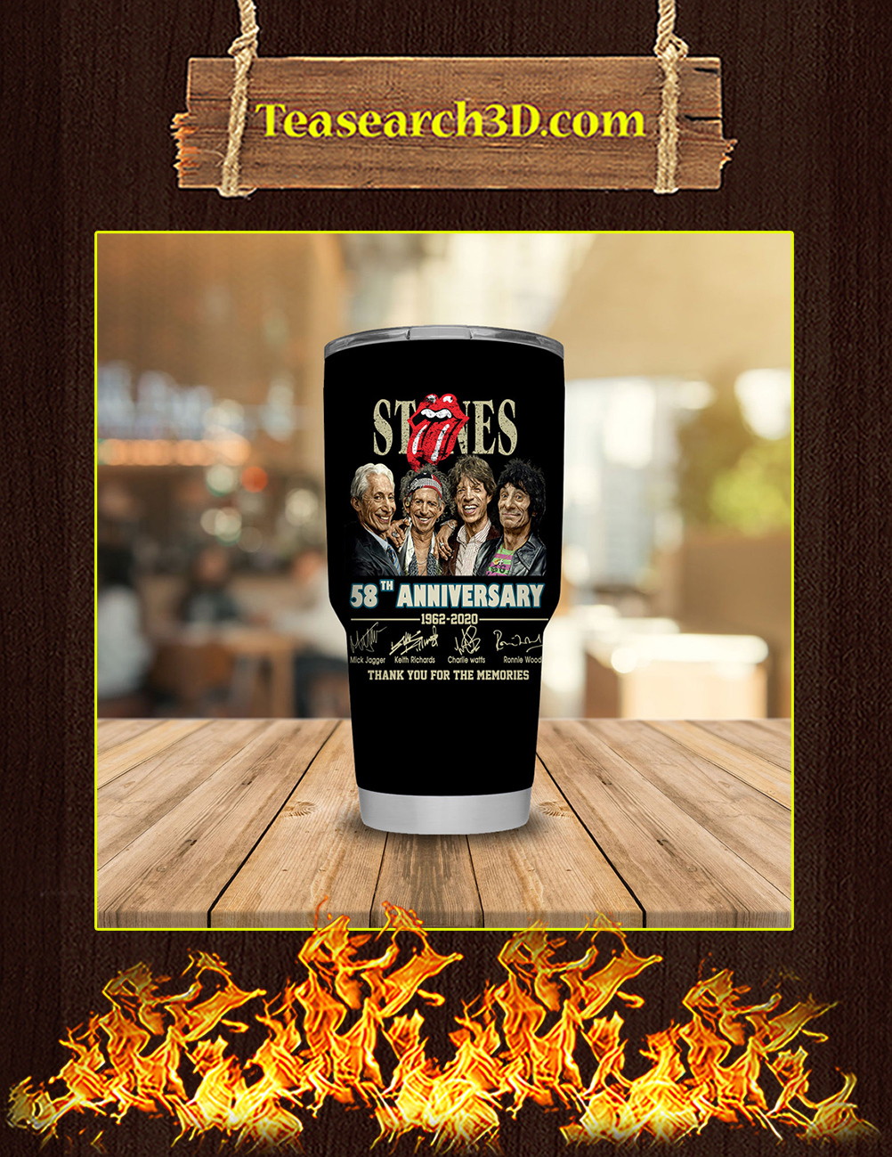 The Rolling Stones 58th Anniversary Stainless Steel Tumbler 30oz