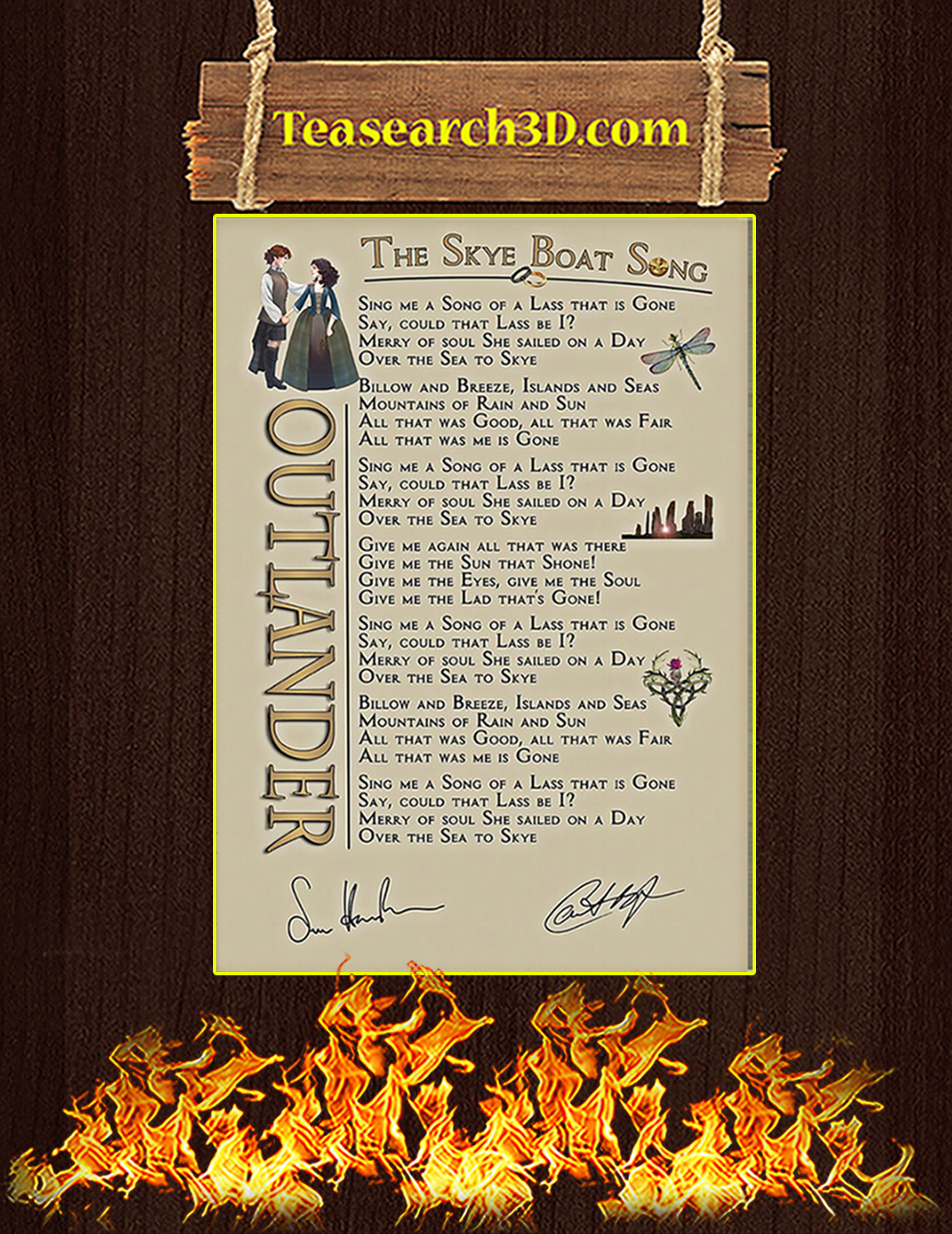 The Skye Boat Song Signature Poster A3