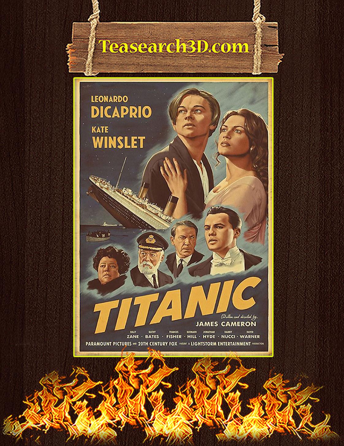 Titanic Leonardo Dicaprio Kate Winslet Poster A3