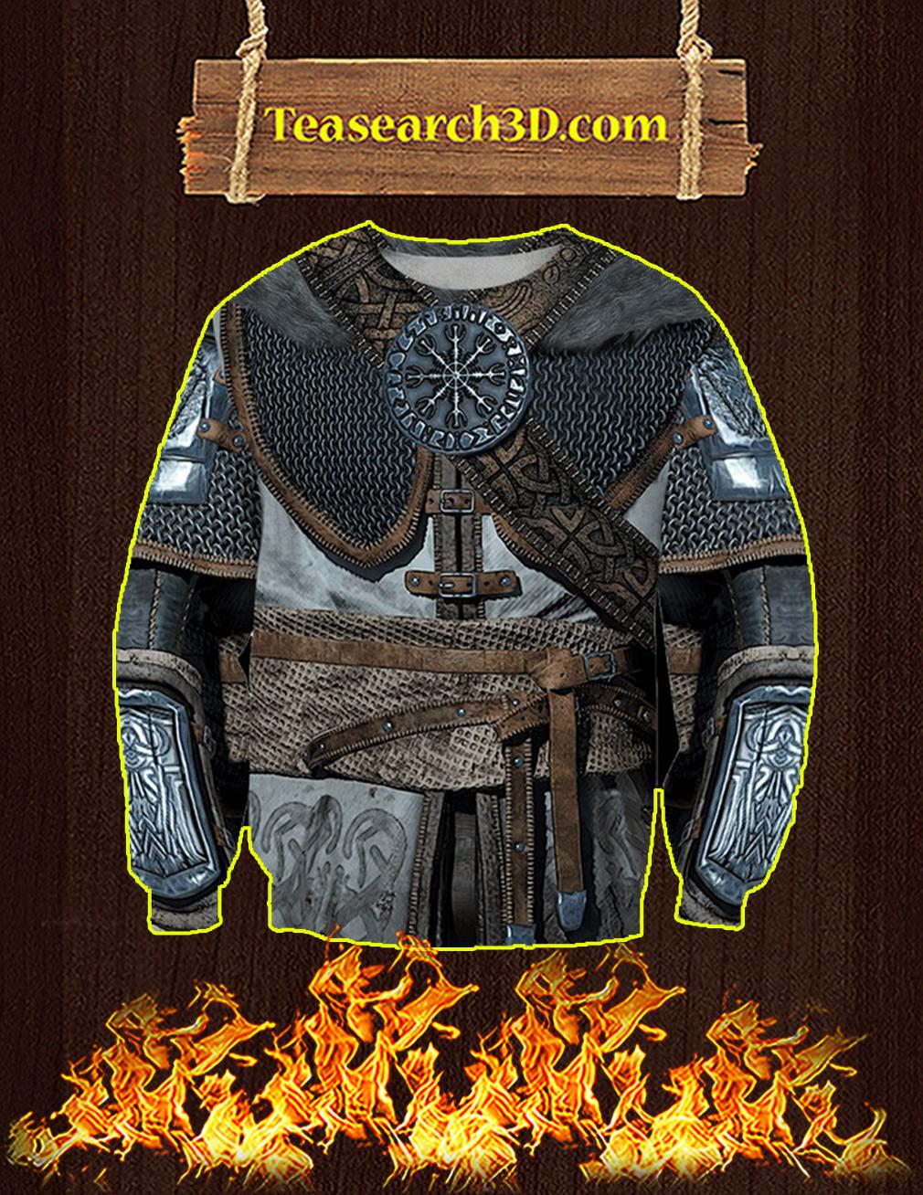 Vikings Armor Helm Of Awe 3d Sweatshirt