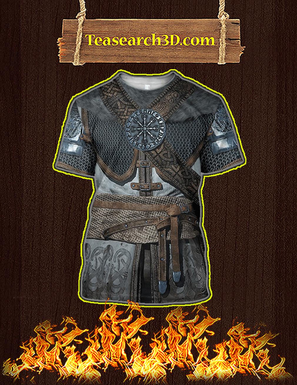 Vikings Armor Helm Of Awe 3d T-shirt