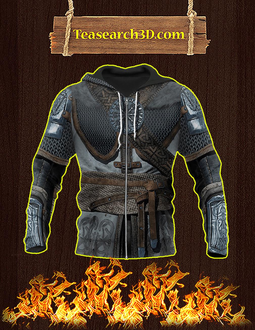 Vikings Armor Helm Of Awe 3d zip hoodie