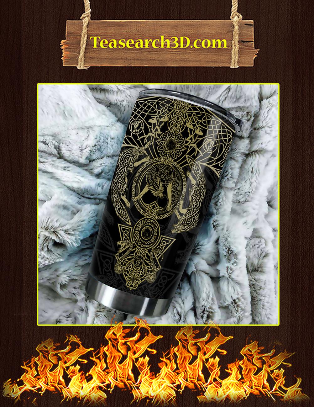Vikings Tattoo Stainless Steel Tumbler Pic 1