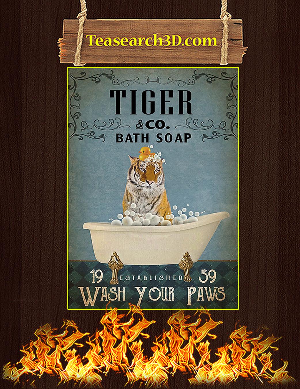 Vintage Bath Soap Tiger Poster A1