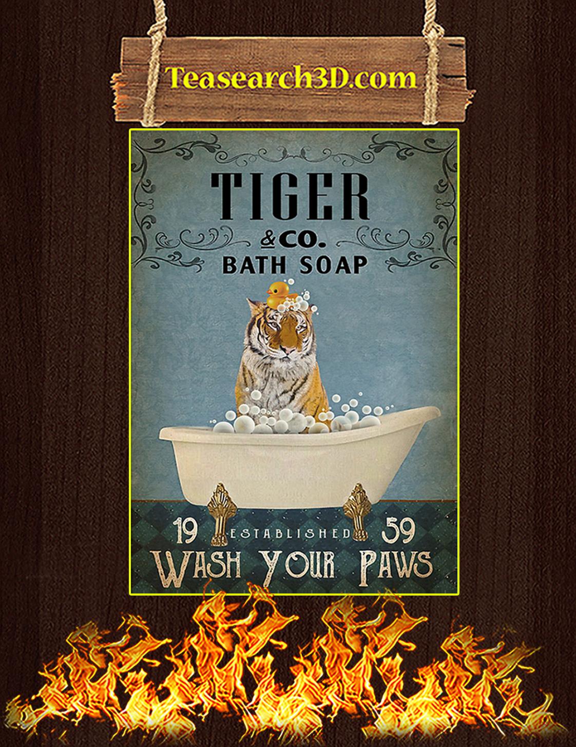 Vintage Bath Soap Tiger Poster A2
