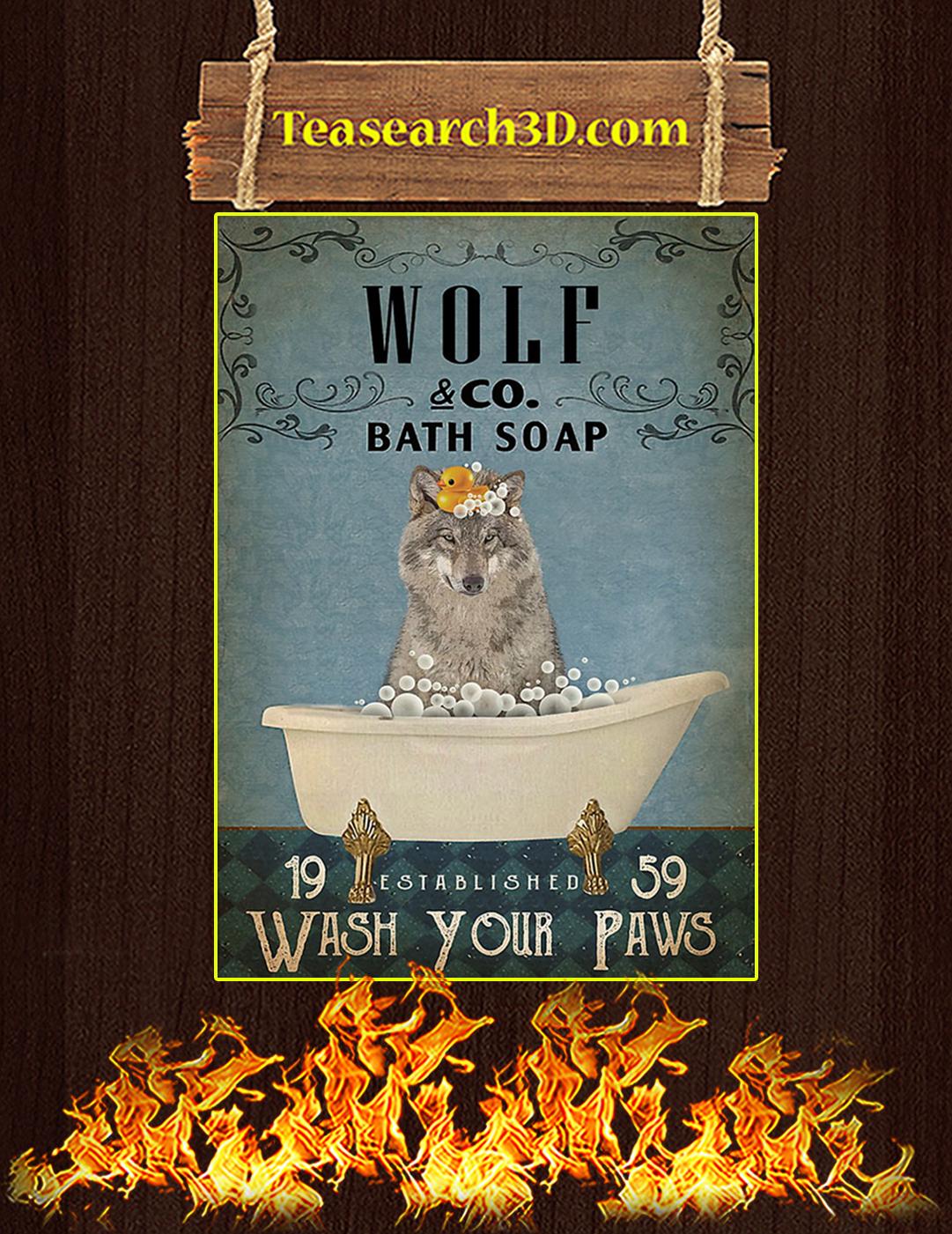 Vintage Bath Soap Wolf Poster A2