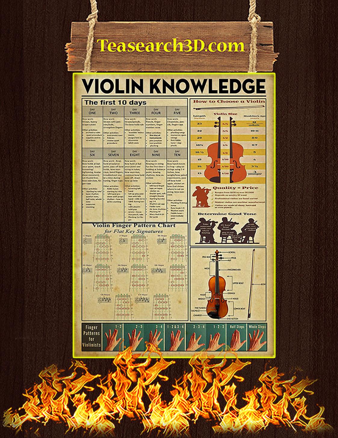 Violin Knowledge Poster A3
