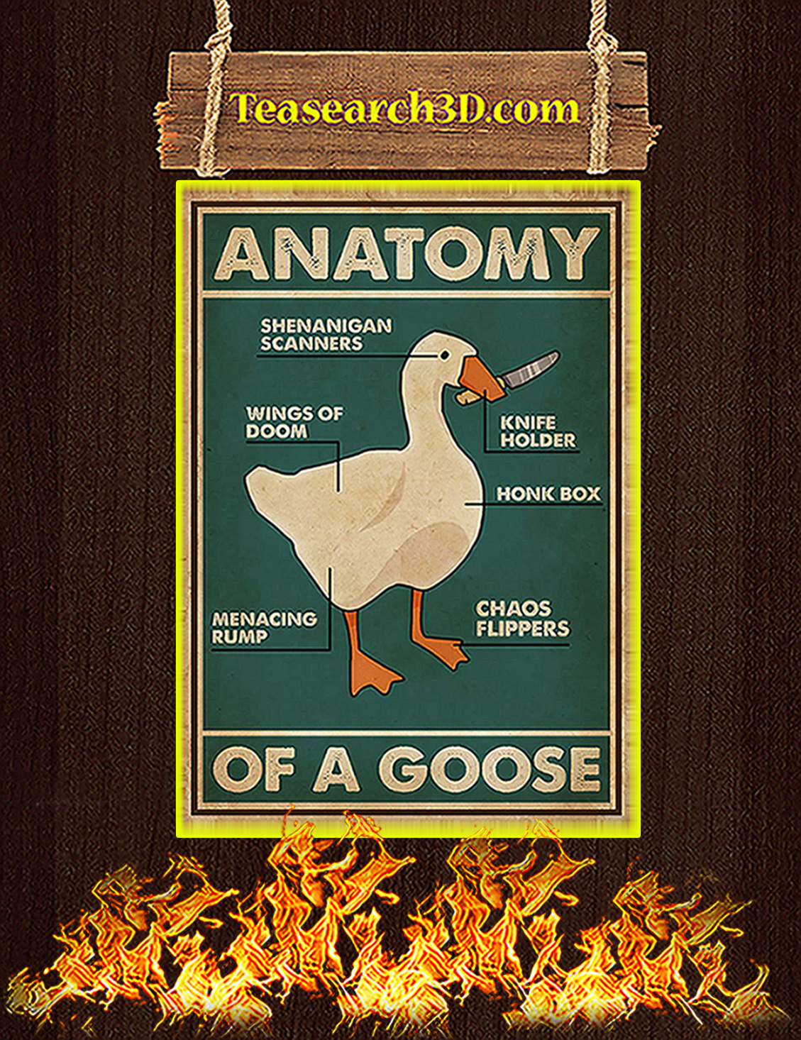 Anatomy of a goose poster A3
