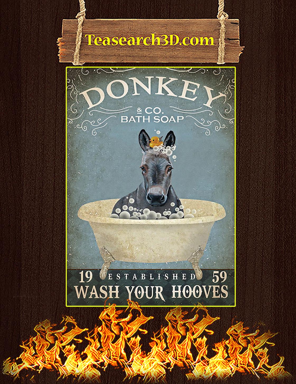 Bath soap company donkey poster A3