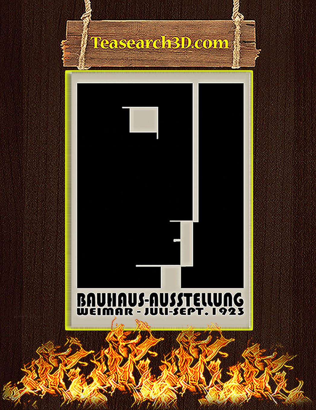 Bauhaus ausstellung weimar juli sept 1923 poster A1