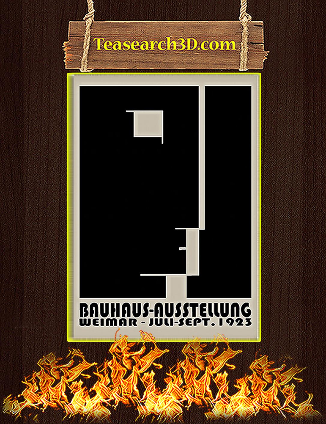 Bauhaus ausstellung weimar juli sept 1923 poster A2