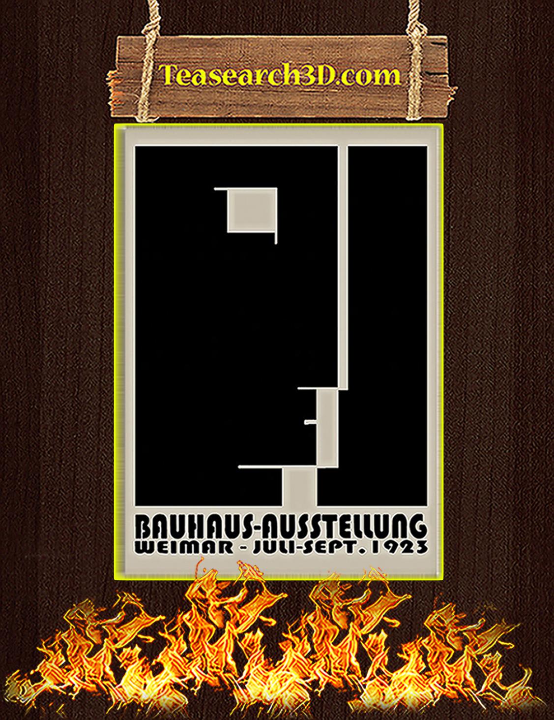 Bauhaus ausstellung weimar juli sept 1923 poster A3