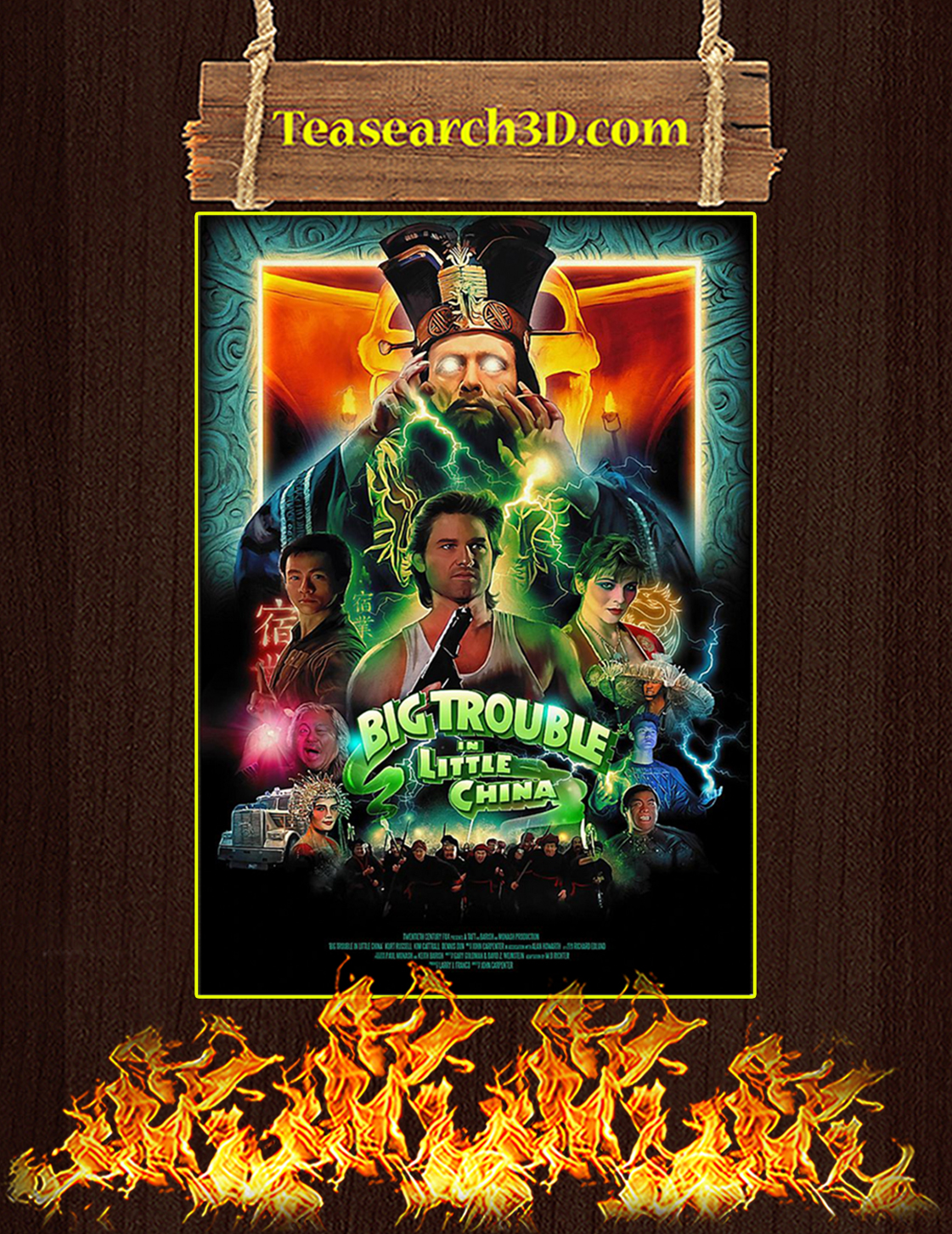 Big trouble in little china poster A3