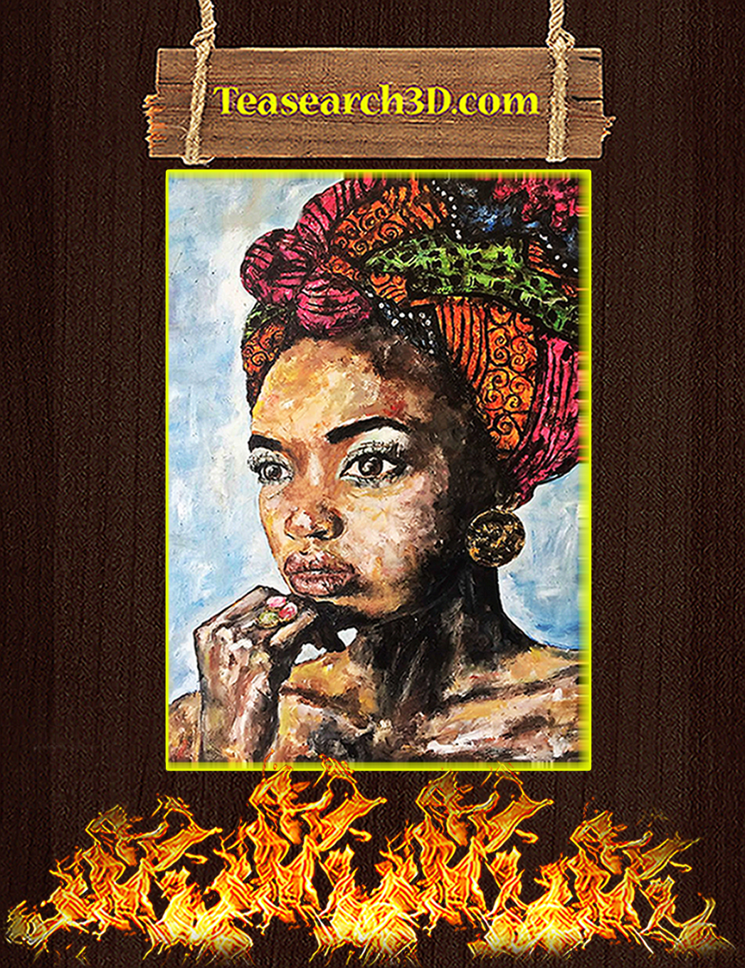 Black African Woman Poster A1
