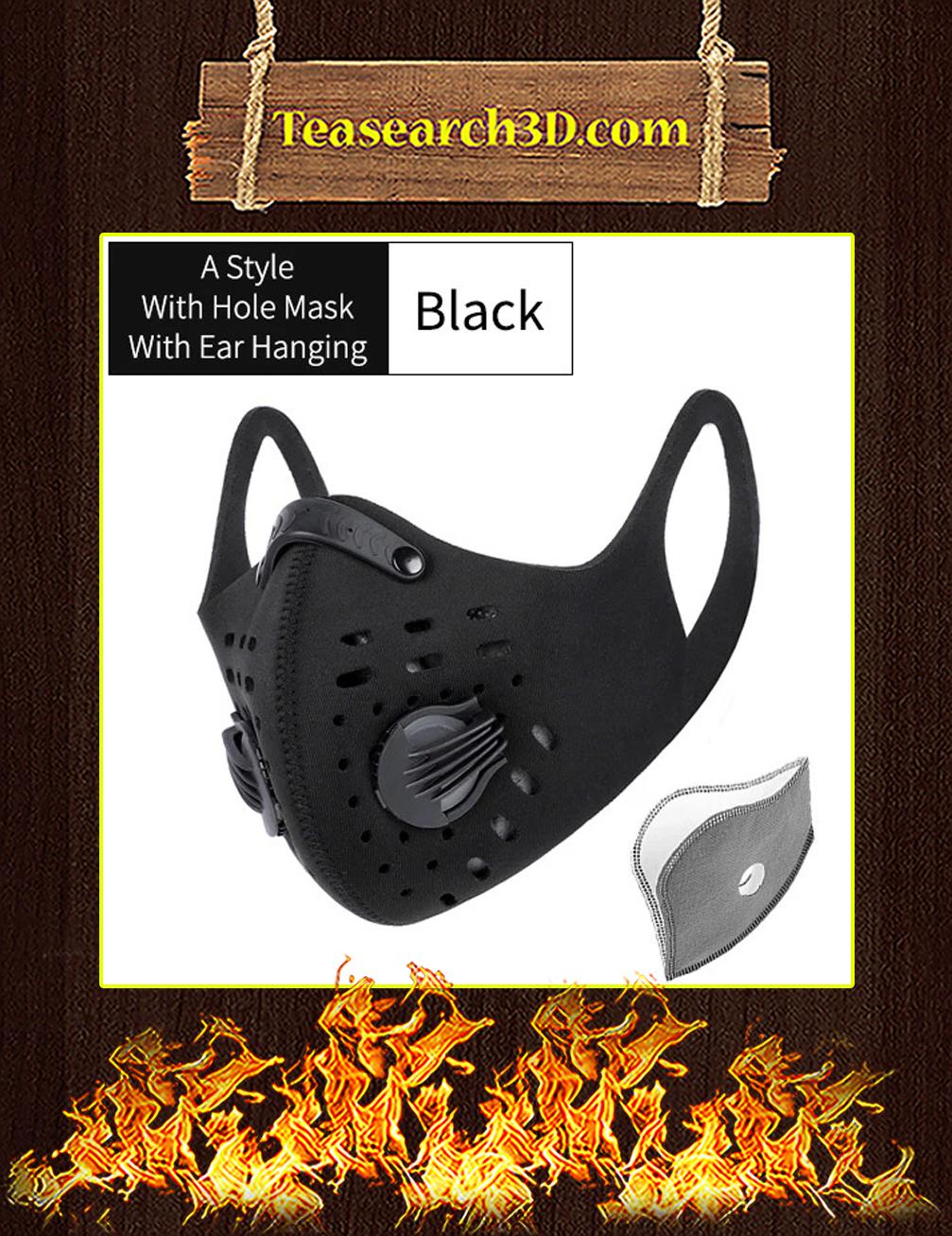 Black Camo Filter Activated Carbon Pm 2.5 Fm Face Mask