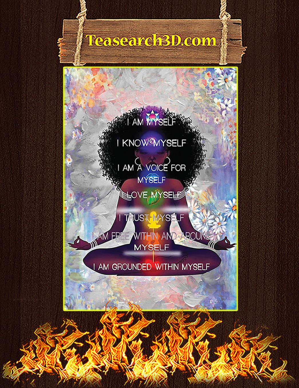 Black Girl Meditation I'm Myself Poster A1