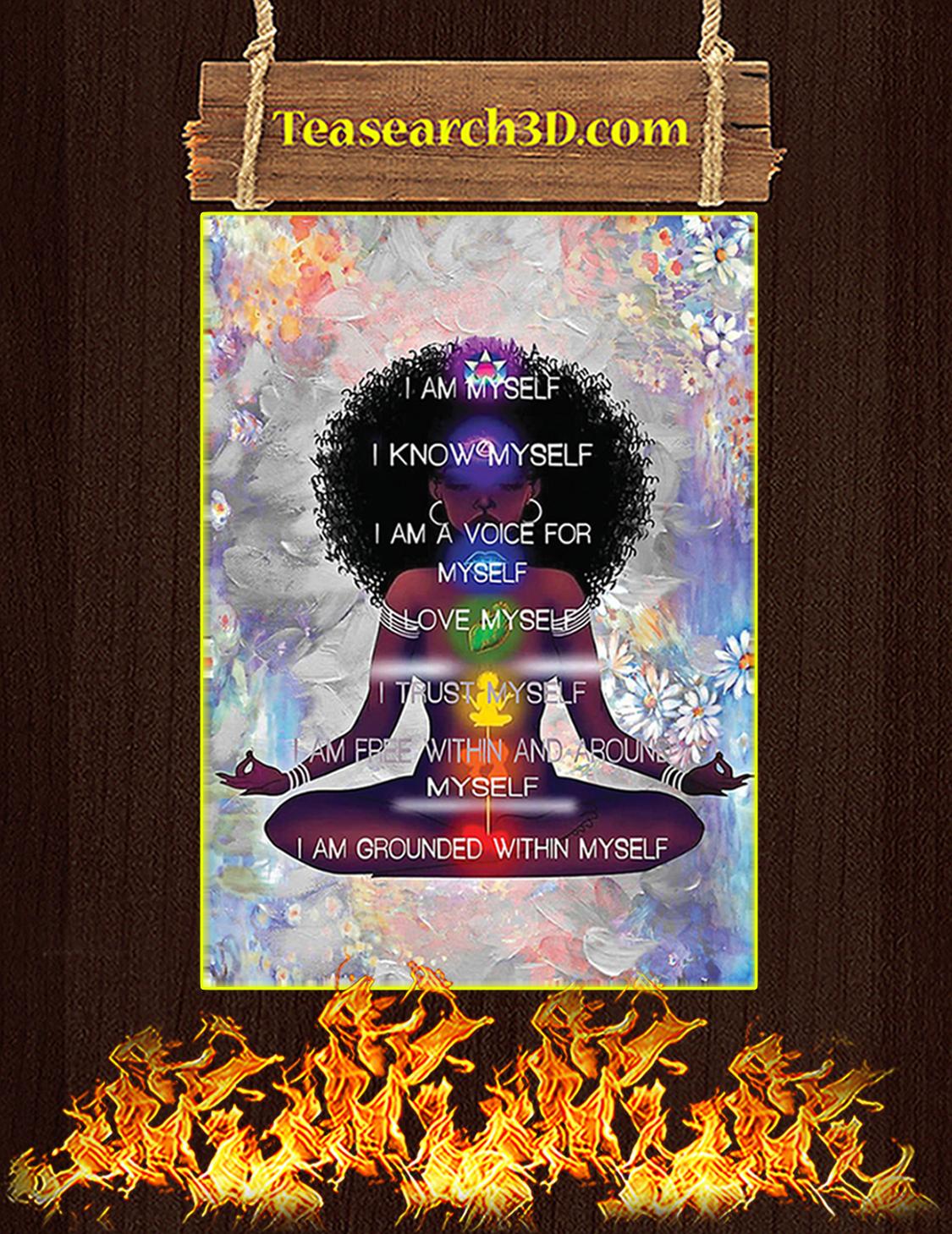 Black Girl Meditation I'm Myself Poster A2